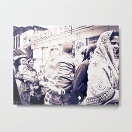 Street Scene-  Rajasthan India Metal Print