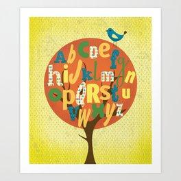 A-BIRD-C Art Print