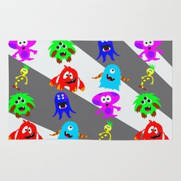 Little Monsters Collage Rug