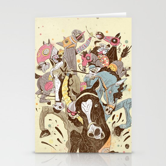 The Great Horse Race! Stationery Cards