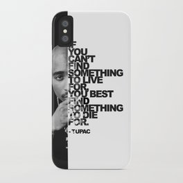 Urban Tupac With Word Quote | Urban Collection iPhone Case