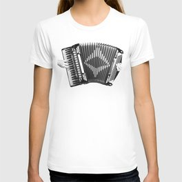 Accordion being squeezed T-shirt