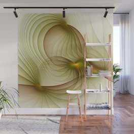 Precious Metal, Abstract Fractal Art Wall Mural