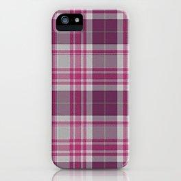 Plum Raspberry Plaid iPhone Case