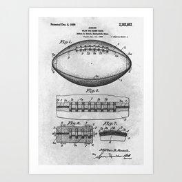 1938 Football Art Print