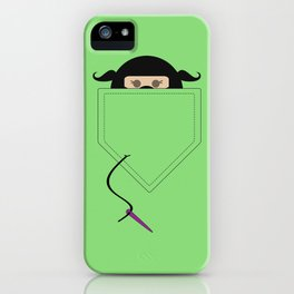 Sew Crafty Pocket Ninja iPhone Case