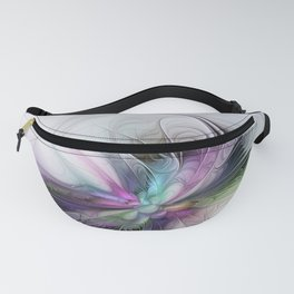 New Life, Abstract Fractals Art Fanny Pack