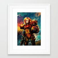 samus Framed Art Prints featuring Samus  by ururuty