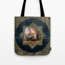 Grizzly Bear Makes Eye Contact Tote Bag