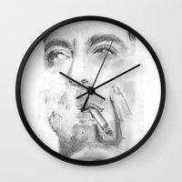 robert farkas Wall Clocks featuring Robert by S'ANNie