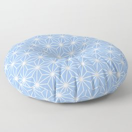 Cold Blue Geometric Flowers and Florals Isosceles Triangle Floor Pillow