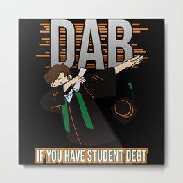 Student Graduation Dab - Funny Metal Print