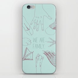 We Are Family iPhone Skin