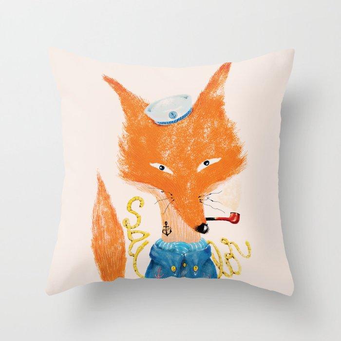Fox II Throw Pillow