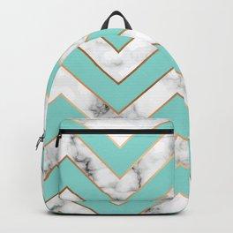 Marble background with gold details V Backpack