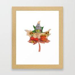 Maple Leaf Fall Framed Art Print