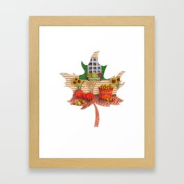 Maple Leaf Fall Framed Art Print