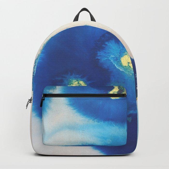 Cool Blues N Gold Backpack