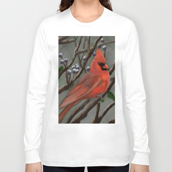 Male Cardinal DP151210a-14 Long Sleeve T-shirt