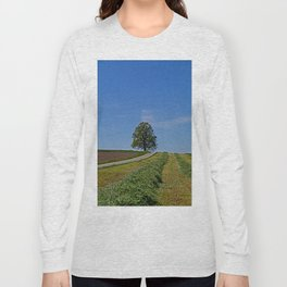 Relaxing in a field Long Sleeve T-shirt
