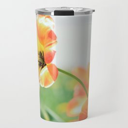 Bright Orange Tulips in Sunlight Travel Mug