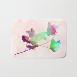 maple 2 watercolor by Jacqueline Madonado & Garima Dhawan Bath Mat