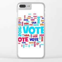 Vote USA 2016 Clear iPhone Case