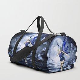 Blue Fairy and Butterflies Duffle Bag