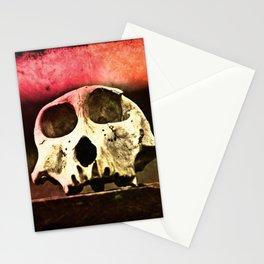 Baboon Skull Sunset Stationery Cards