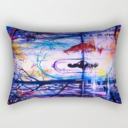 Soul reflection (The girl, the fox and the love) Rectangular Pillow