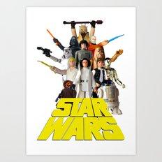 Star War Action Figures Poster - First 12 Art Print
