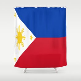 Flag of the Philippines Shower Curtain