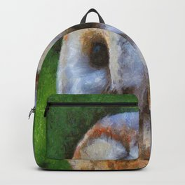 Tawny Owl In The Style of Camille Backpack