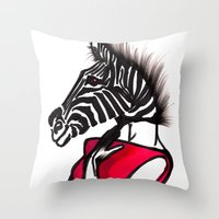striped Throw Pillows featuring Striped by Chetna Shetty