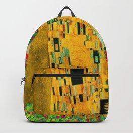 Gustav Klimt The Kiss Painting Backpack