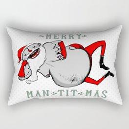 Man-Tit-Mas Rectangular Pillow