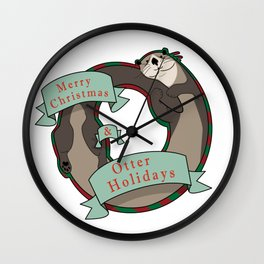 And Otter Holidays Wall Clock