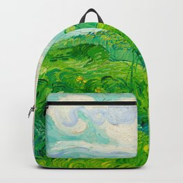Field with Green Wheat 1890 Oil Painting By Vincent Van Gogh Backpack