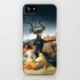 The Sabbath of Witches Goya Painting iPhone Case