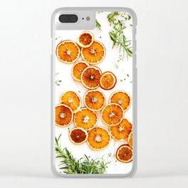 Pure Citrus (Color) Clear iPhone Case