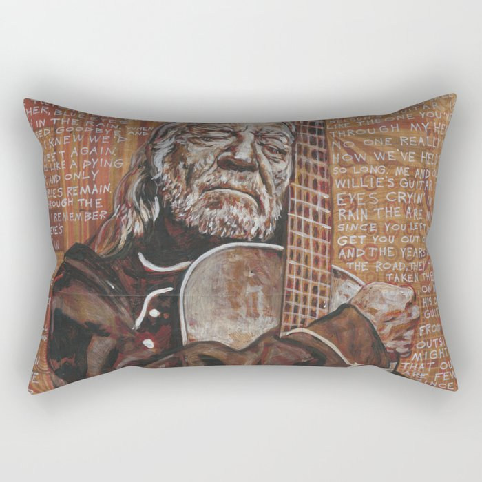 Willie's Guitar Rectangular Pillow