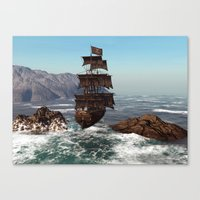 pirate ship Canvas Prints featuring Pirate Ship by Simone Gatterwe