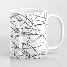Hand Drawn Scribbles (black/white) Coffee Mug