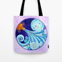 aquarius Tote Bags featuring Aquarius by Sandra Nascimento