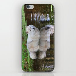 Wolf Reflection iPhone Skin