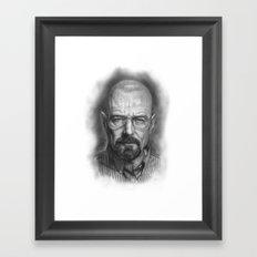 Walter White / Breaking Bad Framed Art Print