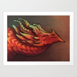 I bring you fire Art Print
