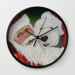 Santa's Helper Wall Clock