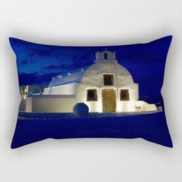 Santorini Chapel During Sunrise  Rectangular Pillow