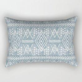 vintage moroccan - dusty blue Rectangular Pillow